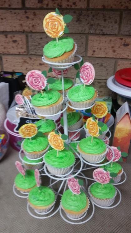 Megan's cupcakes were a hit